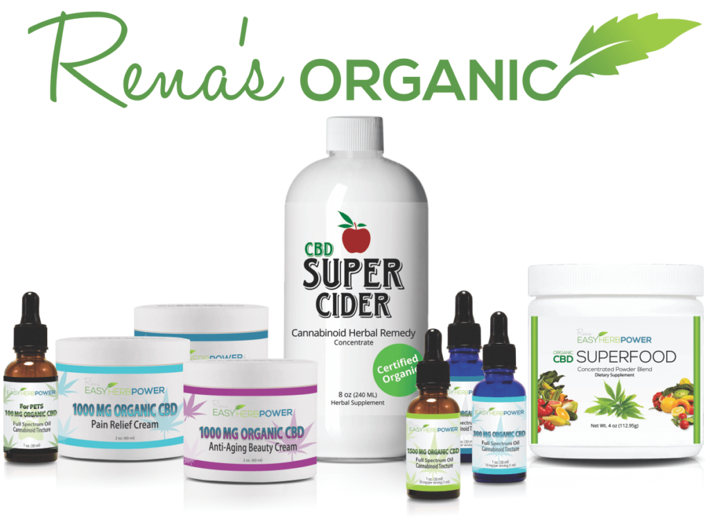 Renas Organic EHP CBD Product Collection